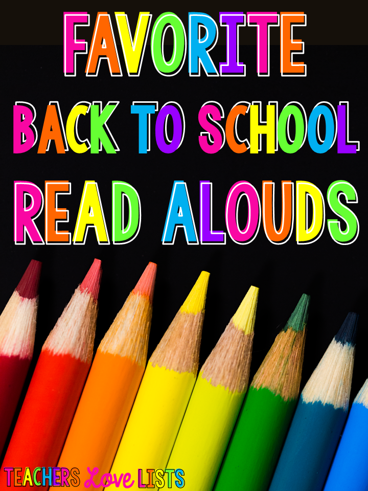 Back to School Read Alouds First Grade Kindergarten
