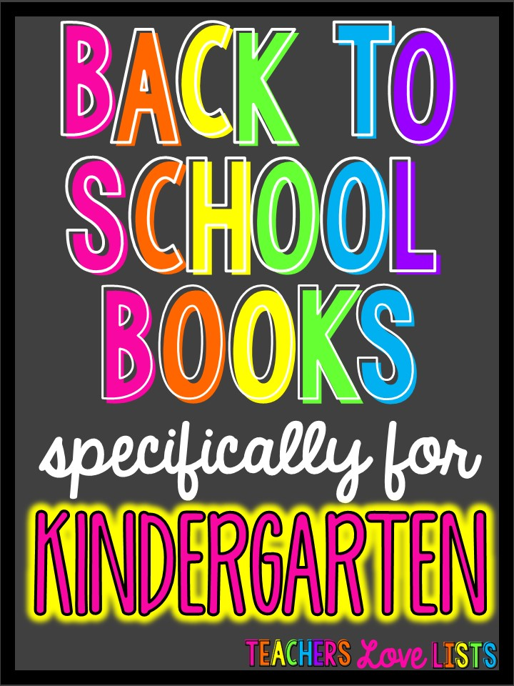 Back to School Books Kindergarten read alouds