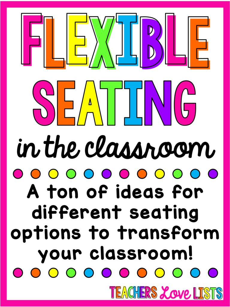 Classroom Seating Ideas ~ Flexible seating classroom ideas and options